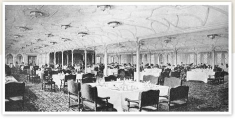 First class dining saloon.