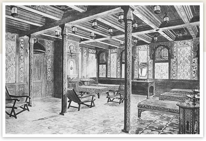 First class Turkish baths cooling room.